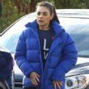 Mila Kunis in Blue Jacket – Out in Los Angeles - 454 x 568