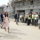 Duchess Catherine and Prince William visits Tregunnel Hill