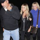 Ashley Tisdale attended the Coldplay concert last night, May 4, at the Hollywood Bowl in Hollywood. The actress brought along her parents to the sold-out show