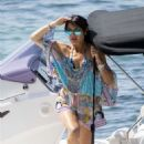 Lizzie Cundy – Wearing Bikini and Swimsuit on the beach in Mallorca