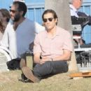 "Jake Gyllenhaal on the set of ""Night Crawler"" in Los Angeles (October 14)"