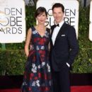 Benedict Cumberbatch, Sophie Hunter at the 72nd Annual Golden Globe Awards at the Beverley Hilton Hotel in Beverly Hills