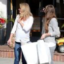 Emily Blunt shops for baby essentials with a friend at Bel Bambini in West Hollywood, California on January 6, 2013