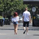 Ariel Winter in Denim Shorts out in Beverly Hills - 454 x 454