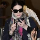 Michelle Trachtenberg arriving on a flight at the Washington Reagan National Airport in Washington DC on April 23, 2015