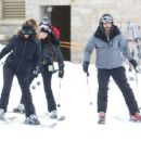 Kourtney hits the slopes  in Deer Valley Park, Utah on December 31, 2013