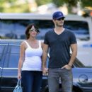 Jennifer Love Hewitt steps out for a casual stroll with her fiance Brian Hallisay in New York City - 396 x 594