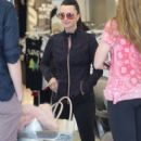 Kyle Richards is spotted outside her clothing store Kyle by Alene Too in Beverly Hills, California on March 31, 2016. Kyle chatted it up with fans before heading out for the day