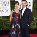Benedict Cumberbatch and Sophie Hunter at the 72nd Annual Golden Globe Awards at the Beverley Hilton Hotel in Beverly Hills - 406 x 594