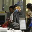 Leonardo DiCaprio and Bar Refaeli at LAX