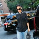 Rihanna: out for dinner with friends in New York City