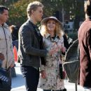 "AnnaSophia Robb and Austin Butler on the set of ""The Carrie Diaries"" in NYC (October 21)"