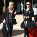 Paris Hilton out doing some last minute Christmas shopping at Barneys New York in Beverly Hills, California on December 24, 2013