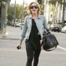 Brittany Snow Shopping In Bevery Hills, December 10 2009