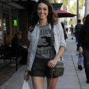 Emmy Rossum Leaving Judi's Deli On Bedford Drive In L.A., 17 March 2010