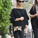 Alicia Vikander in Black – Out with a friend in Beverly Hills