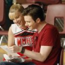 Chris Colfer and Heather Morris
