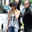 Paris Hilton: at Nice airport