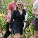 Chloe Moretz in Mini Dress out in Georgia