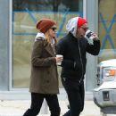 Kate Mara and Jamie Bell grab coffee in New York