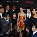 Selena Gomez and the cast: the premiere Of Netflix's '13 Reasons Why' at Paramount Pictures Studio in Los Angeles, California on March 30, 2017 - 454 x 333