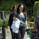 Megan Fox in Black Ripped Jeans Shopping in Malibu - 454 x 680