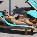 Rhian Sugden in Yellow Bikini in Ibiza - 454 x 327