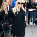 Pamela Anderson Arrives At The View In New York