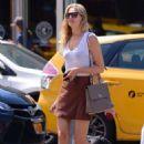 Toni Garrn in Mini Skirt out in NYC - 454 x 681