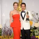 Jennifer Lawrence and Matthew McConaughey - The 86th Annual Academy Awards - Press Room - 424 x 612