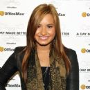 Demi Lovato-Officemax' 'a Day Made Better' Campaign At Grape Street Elementary School On October 5, 2010 In Los Angeles, California