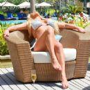 Bianca Gascoigne in Bikini on the pool in Dubai - 454 x 521