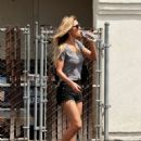 Audrina Patridge in Black Shorts – Out in Irvine - 454 x 623