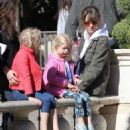 Rebecca Gayheart and her daughter Billie and Georgia are spotted out shopping at The Grove in Los Angeles, California on March 31, 2016 - 454 x 553