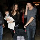 Cam Gigandet was spotted out in Hollywood with his two favorite ladies.