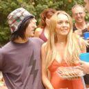 Lindsay Lohan and Aaron Yoo