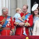 Prince William Windsor & Catherine Duchess of Cambridge arrive for the Trooping The Colour ceremony (June 13, 2015)