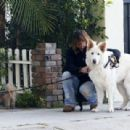 Billy Ray Cyrus takes his dogs out for a relaxing stroll through his neighborhood in Toluca Lake, California on April 4, 2014 - 454 x 309