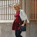 Scarlett Johansson Leaving Her Apartment In New York
