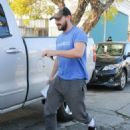 Shia LaBeouf was spotted leaving a studio in West Hollywood, California on January 8, 2016