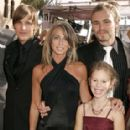 Chad Faust, Bonnie Hammer, Patrick Flueger and Conchita Campbell  at The 57th Annual Emmy Awards - 285 x 400