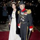 Crown Princess Mary Elizabeth of Denmark and Kronprins Frederik : New Year's reception 2015 - 454 x 564