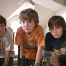LEO HOWARD as Laser, TREVOR GAGNON as Loogie and REBEL RODRIQUEZ as Lug in Warner Bros. Pictures' magical fantasy adventure 'Shorts.' Photo courtesy of Warner Bros. Pictures