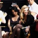 Lucy Liu and Bonnie Somerville on Location for