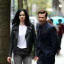 Krysten Ritter – Filming 'Jessica Jones' in New York - 454 x 905