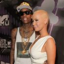 Amber Rose and Wiz Khalifa Attend the 28th Annual MTV Video Music Awards at the Nokia Theatre L.A. Live in Los Angeles, California -  August 28, 2011 - 409 x 594