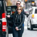 Jennifer Lopez in Leggings – Heading to the gym in NYC