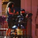 Alisha Wainwright in Green Dress with Justin Timberlake in New Orleans