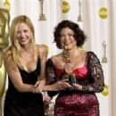 Mira Sorvino and Colleen Atwood attends The 75th Annual Academy Awards - Press Room (2003) - 454 x 296