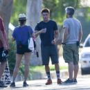Zac Efron Keeps Busy on Set